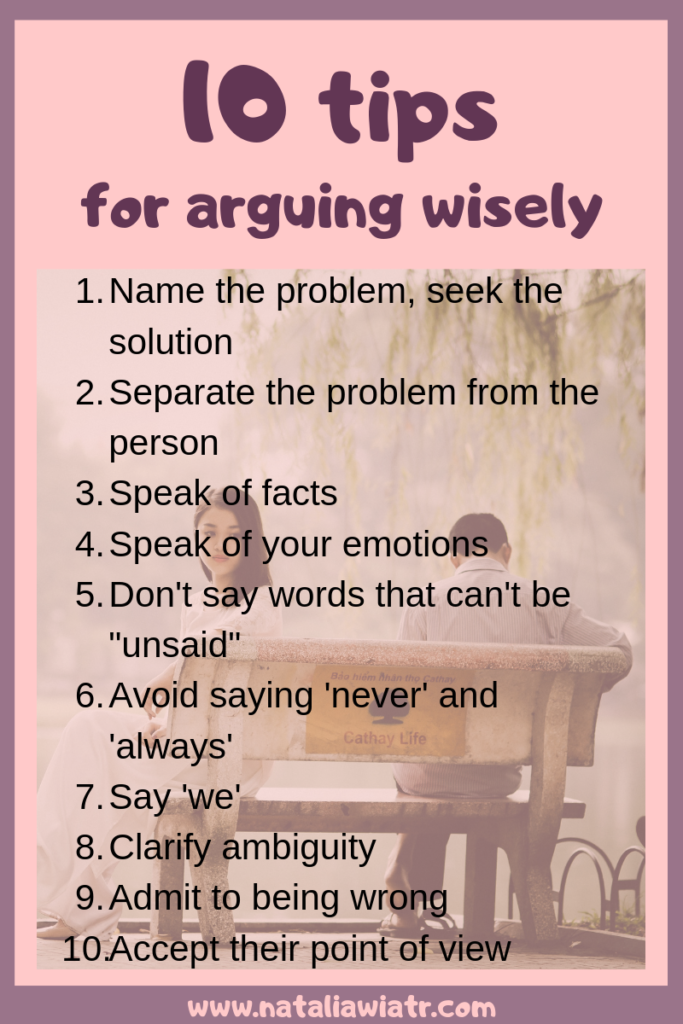 10 tips on how to argue wisely