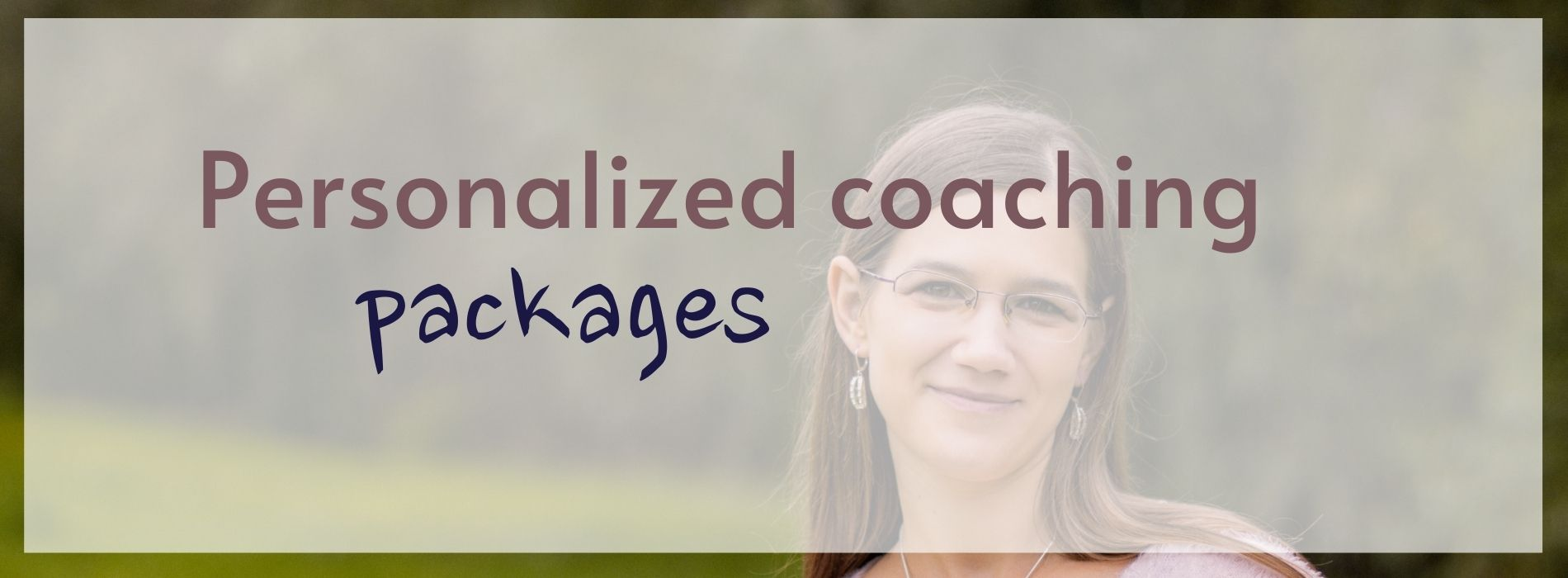 personalized coaching packages